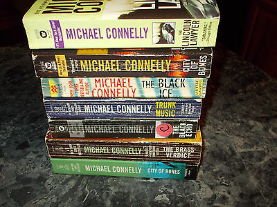 Michael Connelly lot of 7 suspense paperbacks