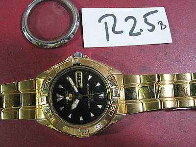 SEIKO Sports Diver 7S36-00Y0 Automatic 42mm Good Dial  w Band Parts Watch AsIs