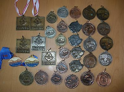 Medals Swim Sport Metal Lot of  33 Festival of Spring