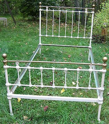 Antique Brass and Iron Bed - Single (old size)