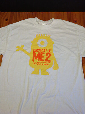 Brand New Rare Despicable Me 2 Promotional Shirt Fast & Furious 6 on Back NEW