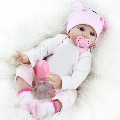 "22"" Reborn Baby Dolls Vinyl Silicone Handmade Girl Kids Gift Toys Realistic Baby"