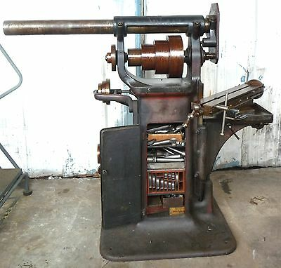 Rare Early Brown & Sharpe Horizontal Milling Machine Mill Tooling & Vert Head