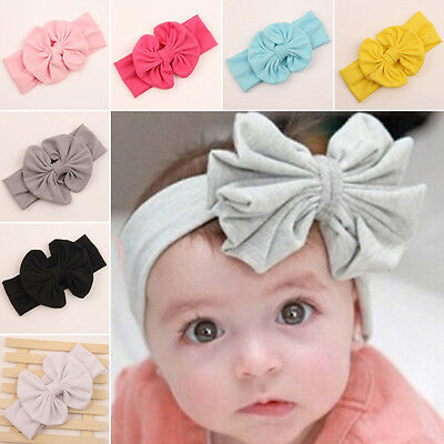 Hair Band Elasticity Turban Knot Head Wrap Headband Gift Baby Cute Big Bow