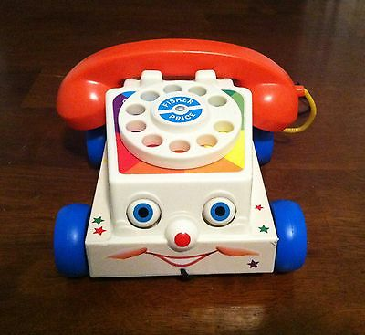 Vintage 1961 1985 Fisher Price Chatter Box Phone Telephone Toy story pull along