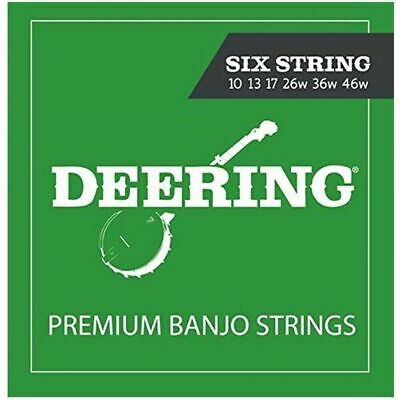 Deering 6-String Banjo Strings Set Medium Gauge 10 - 46w made in USA