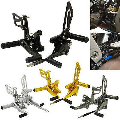 Adjustable Rearsets Foot Pegs Rear Set For SUZUKI GSX-R 600 750 GSXR1000 SV650/S