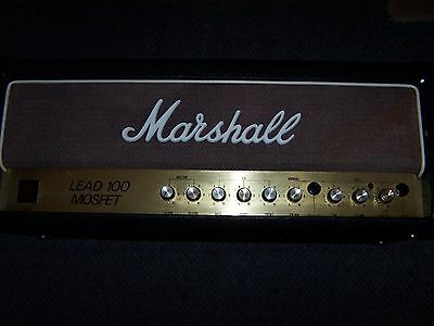 Marshall 3210, Lead 100 Mosfet, Guitar Amplifier, Two Channel, Reverb
