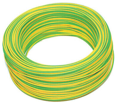 coil 10 mtl electrical cable unipolar section 1x2,5 mm² yellow green