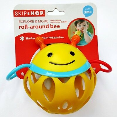Baby Kid Child Skip Hop Zoo Animals Rattle Soft Teether Roll Around Toy Ball 3m+