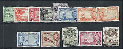 Cayman Islands 1938/48 Selection of Mounted Mint to 10/- (13) SG115/26