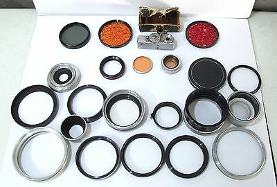 Lot of Vintage Special Effects Filters, IHAGEE Exakta Viewfinder, ARSEN Camera