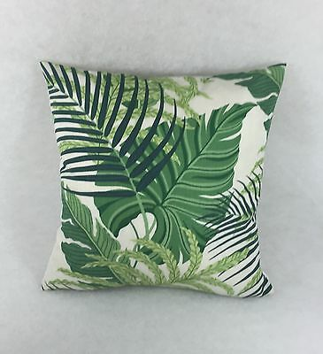 "Sanderson Fabric Manila Green/Ivory 17"" x 17"" Cushion Cover"