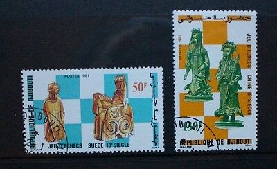 DJIBOUTI 1981 Chess Pieces. Set of 2. Fine USED/CTO. SG826/827.