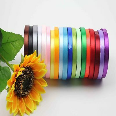 "New Yards 3/8"" Bow 5/8'' Wrapping Party Satin Ribbon Handicraft Wedding"