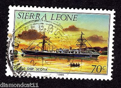 1984 Sierra Leone 70c Scotia cable ship SG 829b GOOD USED R25682