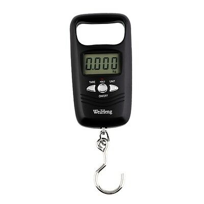Pocket Portable Mini 50kg LCD Digital Hanging Luggage Weight Hook Scale F&
