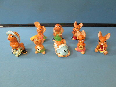 PenDelfin Collection Of Eight Rabbit Figurines / Ornaments
