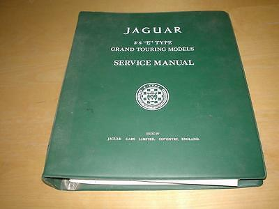 JAGUAR E TYPE SERIES 1 GT GRAND TOURING S1 SERVICE REPAIR MANUAL Owners Handbook