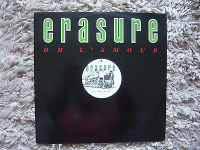 "Erasure Oh L'Amour Re-Mix 1986 UK 12"" Vinyl Single Mute 45 A1B1 Matrix Andy Bell"
