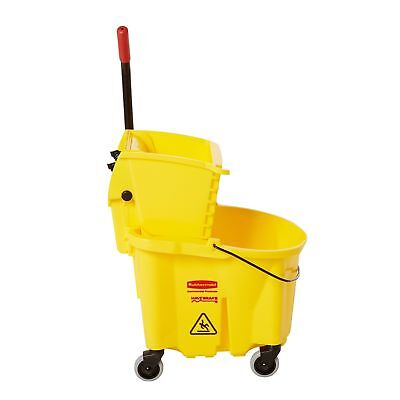 Rubbermaid Commercial WaveBrake Mopping System Bucket and Side-Press Wringer ...