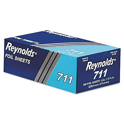 Pop-Up Interfolded Aluminum Foil Sheets in Silver 500/Box