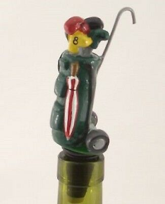 Golf Bag Novelty Resin Wine Or Spirit Bottle Stopper