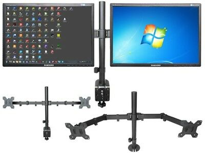 Monitor 2-Arm Mounting on a table for 2 LCD LED TFT TV PC Screens VESA 75 100