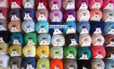 Rico Essentials Cotton Dk Knitting/crochet Yarn - All 62 In Stock - New Shades
