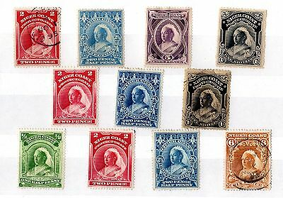 Niger Coast QV 1890s Collection of 11 Mint/VFU X5409