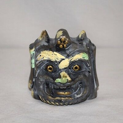 """Oni"" Vintage Japanese Souvenir Bell Ceramic Collectible"