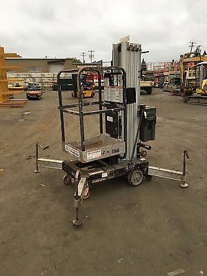 2003 Jlg Am20 Man Lift 20' Deck Hgt,26' Work Hgt 12 Volt New Battery Push Around