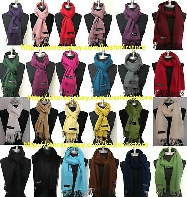 Choose 1,2,3 100% CASHMERE SCARF SCOTLAND SOLID / Pashmina / INFINITY NEW SOFT