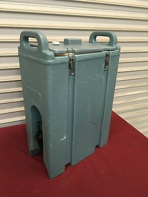 5 Gallon Cambro Insulated Drink Dispenser LCD 500 #5118 Blue NSF Catering Hot