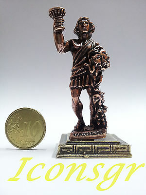 Ancient Greek Olympian God Miniature Sculpture Statue Zamac Vachos Dionysus