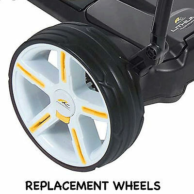 New Powakaddy Replacement Pair White Wheels Genuine Parts Fit All Models