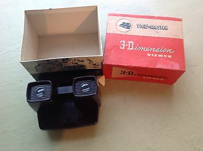 Boxed 3-D Viewmaster Model E Bakelite
