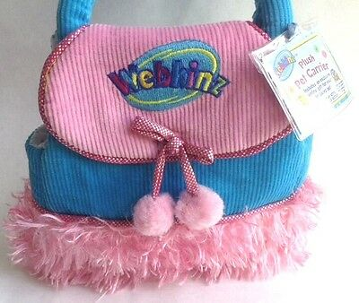 WEBKINZ PLUSH PET CARRIER Purse Turquoise Pink GANZ Accessories SEALED CODE