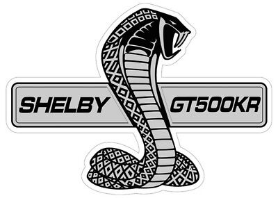 "Shelby GT500KR Logo Metal Sign ( 30"" by 21"" )"