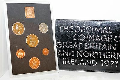 Royal Mint Decimal Coinage Of Great Britain & Ni 1971 Mint Proof Coin Pack Gc
