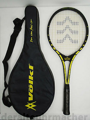 "vintage 80s * VOLKL Servo * Made in Germany ""New Zebra"" racket in bag"