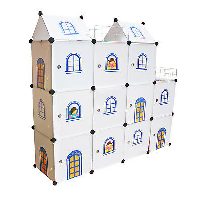 Kids Castle Toy Boxes - Wardrobe Storage Organizer Tidy Units Bookcases Shelves