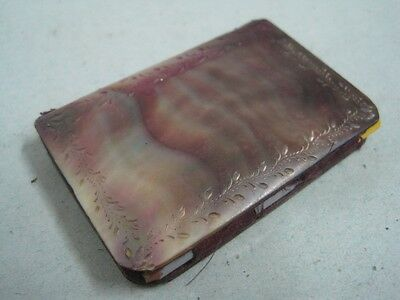 Antique Mother of Pearl Souvenir Notebook appointment book