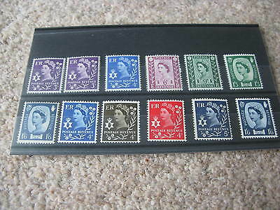 Northern Ireland Definitives 1958/67 & 1968/69 - 12 items - MINT N H