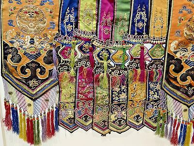19th Century Qing [Ching] [Ch'ing] Chinese Silk Embroidered Over/Dance Skirt