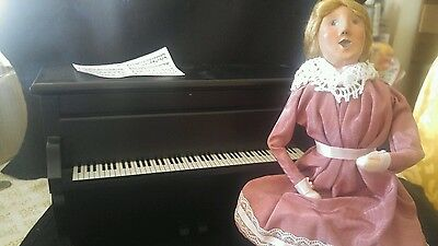 Victorian Christmas Caroler  Louise  Playing the Piano Second Edition 1996