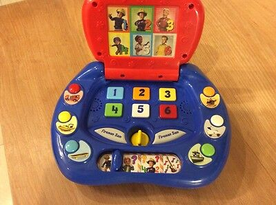 Fireman Sam My First Laptop Educational Talking Toy With Music Sounds & Lights