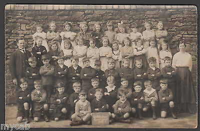 Postcard Griffithstown near Pontypool Torfaen Wales council school class old RP