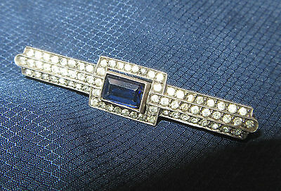ancienne broche en argent massif art deco 1930  brooch sterling silver pin