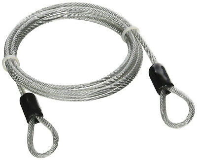 Lumintrail 4 Foot 3mm Braided Steel Coated Security Cable Wire Double Loop